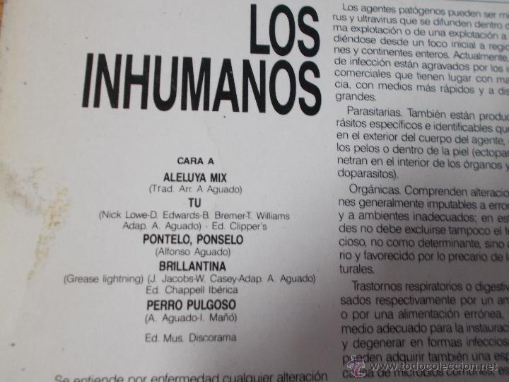 Discos de vinilo: LOS INHUMANOS. EL MAGICO PODER CURATIVO - Foto 2 - 49658674