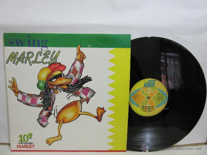REGGIE DUCK - SWING MARLEY - MAXI - 1991 - EFEN RECORDS - EX+/EX+ (Música - Discos de Vinilo - Maxi Singles - Reggae - Ska)