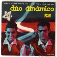 Discos de vinilo: DÚO DINÁMICO.EP LA VOZ DE SU AMO.1962. Lote 49665455