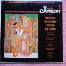 Discos de vinilo: CAMELOT 1967 WARNER BROS 1712 ORIGINAL MOTION PICTURES FREDERICK LOEWE LP USA CALIFORNIA. Lote 49670640