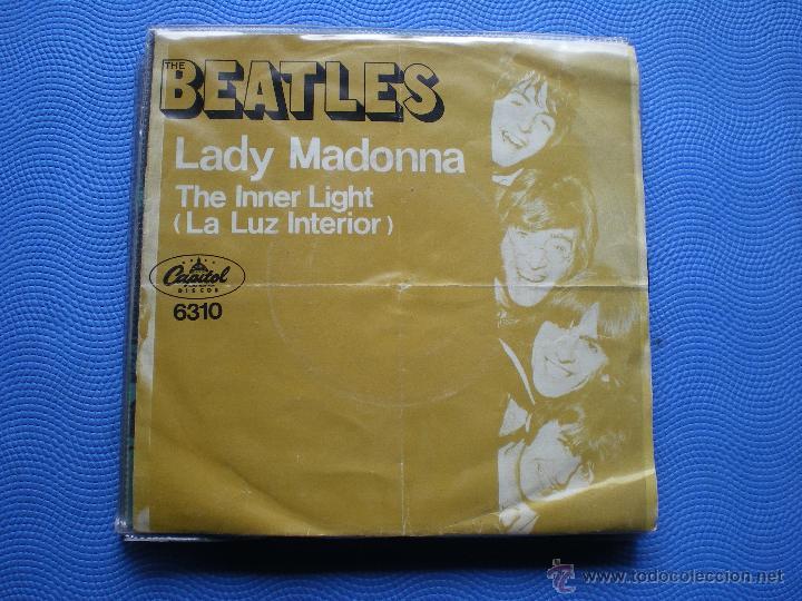 THE BEATLES LADY MADONNA/LA LUZ INTERIOR SINGLE MEXICO 1968 PDELUXE (Música - Discos - Singles Vinilo - Pop - Rock Extranjero de los 50 y 60)