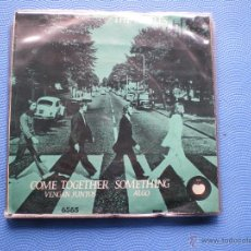 Discos de vinilo: THE BEATLES VENGAN JUNTOS/ALGO SINGLE MEXICO 1972 PDELUXE. Lote 49674410