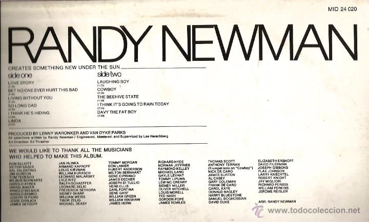 Discos de vinilo: LP RANDY NEWMAN . STAR COLLECTION - Foto 2 - 49674499
