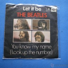 Discos de vinilo: THE BEATLES LET IT BE SINGLE PORTUGAL PDELUXE. Lote 49675185
