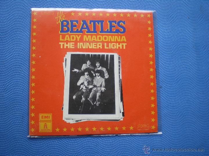 THE BEATLES LADY MADONNA/THE INNER LIGHT SINGLE FRANCIA 1976 PDELUXE (Música - Discos - Singles Vinilo - Pop - Rock Extranjero de los 50 y 60)