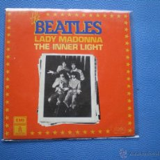 Discos de vinilo: THE BEATLES LADY MADONNA/THE INNER LIGHT SINGLE FRANCIA 1976 PDELUXE. Lote 49675415