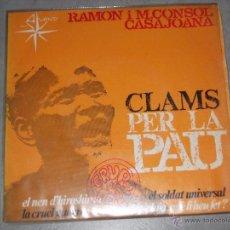 Discos de vinilo: RAMON I M. CONSOL CASAJOANA - ALS 4 VENTS 1967 - INCLUYE HOJA DE ENCARTES - EP. Lote 49675824
