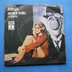 Disques de vinyle: MINA - SINGLE - AMOR MIO. Lote 49676921