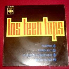 Discos de vinilo: LOS TEEN TOPS - PRESUMIDA + 3 - CBS 1963. Lote 49678569