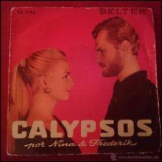 Discos de vinilo: CALYPSOS POR NINA & FREDERICK- MALADIE D'AMOUR +3 -1 BELTER -959. Lote 49678758