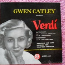 Discos de vinilo: GWEN CATLEY 1963 PYEC RCA 4002 VERDÍ ORQUESTA PRO ARTE STANFORD ROBINSON ESPAÑA. Lote 49693528