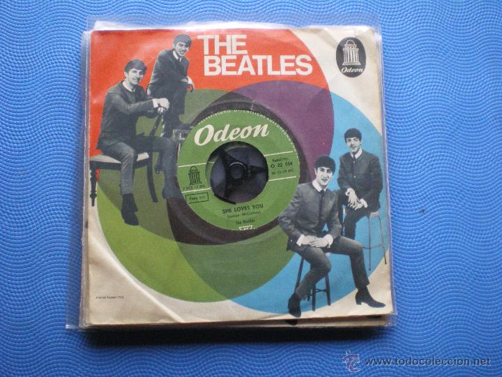 Discos de vinilo: THE BEATLES SHE LOVES YOU/I´LL GET YOU SINGLE ALEMANIA PDELUXE - Foto 2 - 49694289
