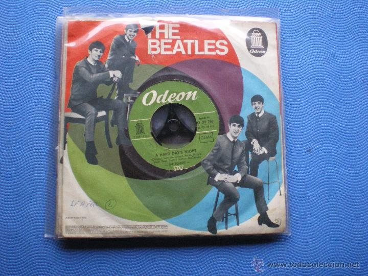 Discos de vinilo: THE BEATLES A HARD DAYS NIGHT/THING WE SAI.. SINGLE ALEMANIA PDELUXE - Foto 2 - 49694334