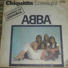 Disques de vinyle: ABBA - CHIQUITITA - SINGLE ORIGINAL ESPAÑOL - CARNABY RECORDS 1979 -. Lote 49699983