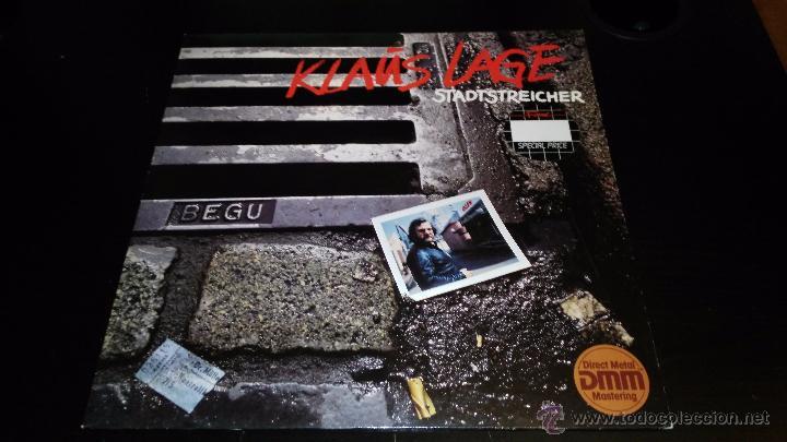 KLAUS LAGE - STADTSTREICHER (Música - Discos - LP Vinilo - Pop - Rock - New Wave Extranjero de los 80)