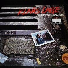Discos de vinilo: KLAUS LAGE - STADTSTREICHER. Lote 49700288