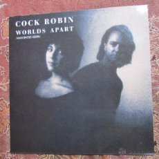 Discos de vinil: COCK ROBIN- MAXI-SINGLE DE VINILO TITULO WORLDS APART-3 TEMAS- ORIGINAL DEL AÑO 89-¡¡¡NUEVO¡¡¡. Lote 49704484