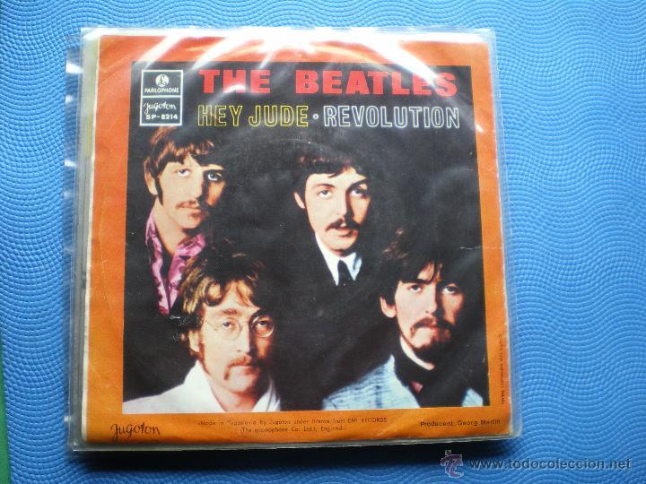 Discos de vinilo: THE BEATLES HEY JUDE/REVOLUTION single Yugoslavia 1968 PDELUXE - Foto 2 - 49705963
