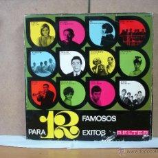 Discos de vinilo: JEZABEL Y THE FINDER'S / THE BRISKS / FEDERICO CABO Y MAS - 12 FAMOSOS PARA 12 EXITOS -BELTER 22.003. Lote 49710063