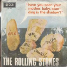 Discos de vinilo: SG THE ROLLING STONES : HAVE YOU SEEN YOUR MOTHER + WHO´S DRIVING YOUR PLANE. Lote 49712393