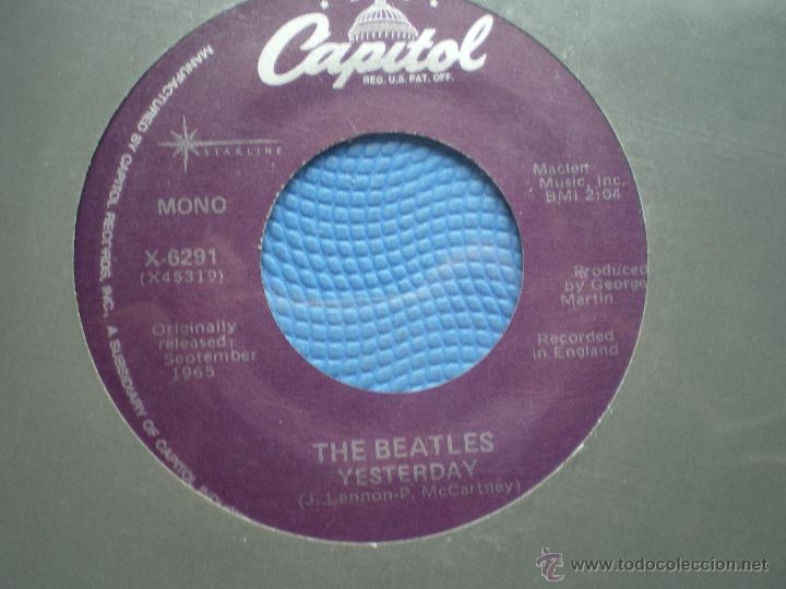 Discos de vinilo: THE BEATLES YESTERDAY/YESTERDAY SINGLE USA PDELUXE - Foto 2 - 49718835