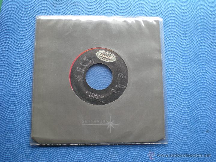 Discos de vinilo: THE BEATLES YESTERDAY/ACT NATURALLY SINGLE USA PDELUXE - Foto 1 - 49719023