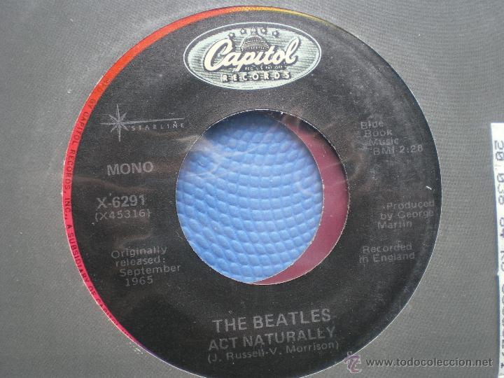 Discos de vinilo: THE BEATLES YESTERDAY/ACT NATURALLY SINGLE USA PDELUXE - Foto 3 - 49719023