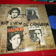 Discos de vinilo: CRIT I VEU DE CATALUNYA LLACH+RAMON MUNTANER+PI DE LA SERRA+RAIMON LP 1976 APOLO CATALA. Lote 49721978