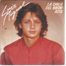 Disques de vinyle: LUIS MIGUEL SG EMI 1984 PROMO LA CHICA DEL BIKINI AZUL/ UN ROCK ROLL SONO. Lote 49726202