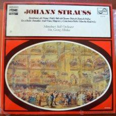 Discos de vinilo: JOHANN STRAUSS - BOMBONES DE VIENA - EN EL BELLO DANUBIO AZUL - MUNDO DE LA MÚSICA - RTVE - ZAFIRO. Lote 49729852