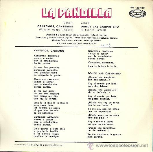 Discos de vinilo: LA PANDILLA SINGLE SELLO MOVIEPLAY ANO 1971 EDITADO EN ESPAÑA - Foto 2 - 49735106