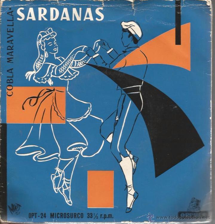 EP COBLA MARAVELLA : SARDANAS & SARDANES : LA COVE DEL DRAC + 3 (Música - Discos de Vinilo - EPs - Étnicas y Músicas del Mundo)