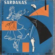 Discos de vinilo: EP COBLA MARAVELLA : SARDANAS & SARDANES : LA COVE DEL DRAC + 3 . Lote 49737509