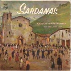 Discos de vinilo: EP COBLA BARCELONA : SARDANAS & SARDANES : ELS GIRONINS + 3 . Lote 49737655