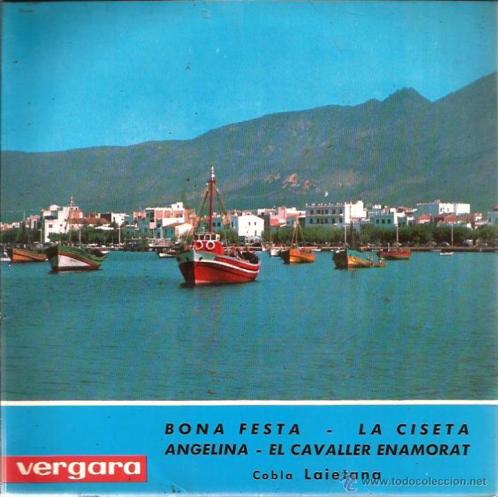 Discos de vinilo: EP COBLA LAIETANA : SARDANES A LA COSTA BRAVA : BONA FESTA + 3 - Foto 2 - 49737796