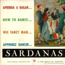 Discos de vinilo: EP COBLA LA PRINCIPAL DE LA BISBAL : APRENDA A BAILAR SARDANAS ( EN XIQUET D´AIGUA BLAVA + 3 ) . Lote 49738086