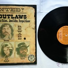 Discos de vinilo: THE OUTLAWS (JENNINGS, NELSON, COLTER, GLASER) - WANTED THE OUTLAWS (RECOPILATORIO PROMO 1976). Lote 49738434
