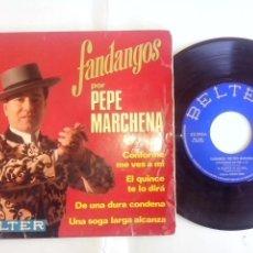 Discos de vinilo: PEPE MARCHENA. FANDANGOS. CONFORME ME VES A MI. EL QUINCE TE DIRA Y 2+.BELTER 1969 52.293. Lote 49742972