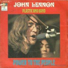 Discos de vinilo: JHON LENNON PLASTIC ONO BAND SINGLE SELLO EMI-ODEON AÑO 1971 EDITADO EN ESPAÑA . Lote 49743659
