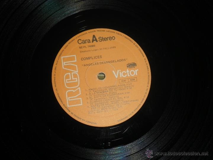 Discos de vinilo: COMPLICES - ANGELES DESANGELADOS LP - ORIGINAL ESPAÑOL - RCA RECORDS 1989 - CON FUNDA INT. ORIGINAL - Foto 10 - 49748329