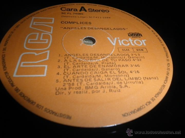 Discos de vinilo: COMPLICES - ANGELES DESANGELADOS LP - ORIGINAL ESPAÑOL - RCA RECORDS 1989 - CON FUNDA INT. ORIGINAL - Foto 11 - 49748329