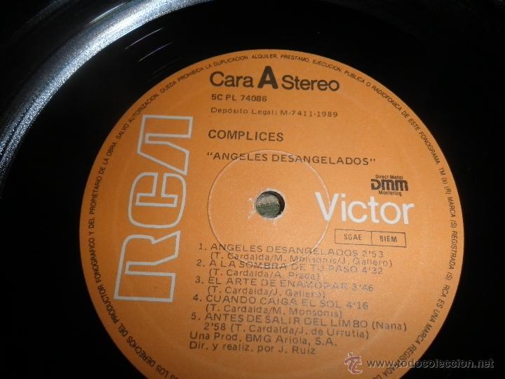 Discos de vinilo: COMPLICES - ANGELES DESANGELADOS LP - ORIGINAL ESPAÑOL - RCA RECORDS 1989 - CON FUNDA INT. ORIGINAL - Foto 12 - 49748329