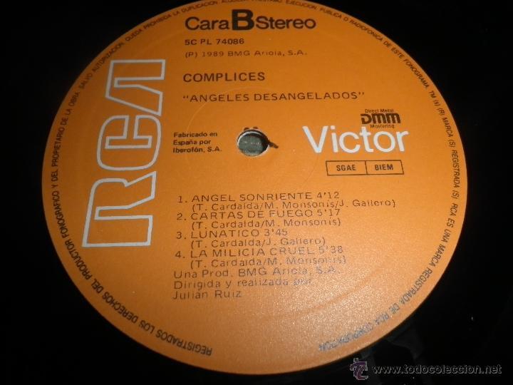 Discos de vinilo: COMPLICES - ANGELES DESANGELADOS LP - ORIGINAL ESPAÑOL - RCA RECORDS 1989 - CON FUNDA INT. ORIGINAL - Foto 13 - 49748329