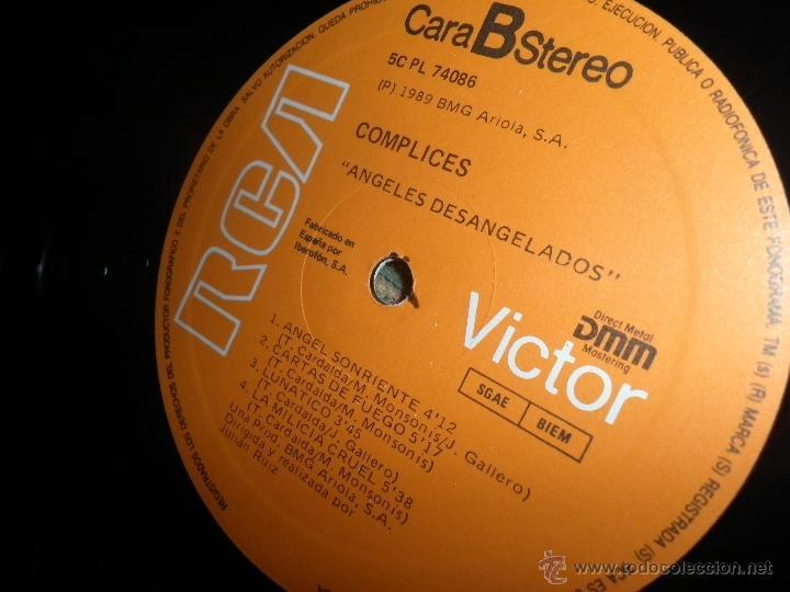 Discos de vinilo: COMPLICES - ANGELES DESANGELADOS LP - ORIGINAL ESPAÑOL - RCA RECORDS 1989 - CON FUNDA INT. ORIGINAL - Foto 14 - 49748329