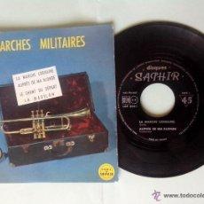 Discos de vinilo: MARCHAS MILITARES. LA MARCHE LORRAINE. AUPRES DE MA BLONDE. LE CHANT DU DEPART. LE MADELON. SAPHIR. Lote 49753386