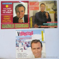 Discos de vinilo: MANOLO ESCOBAR - LOTE DE 3 EP (4 CANCIONES) BELTER. Lote 49756480