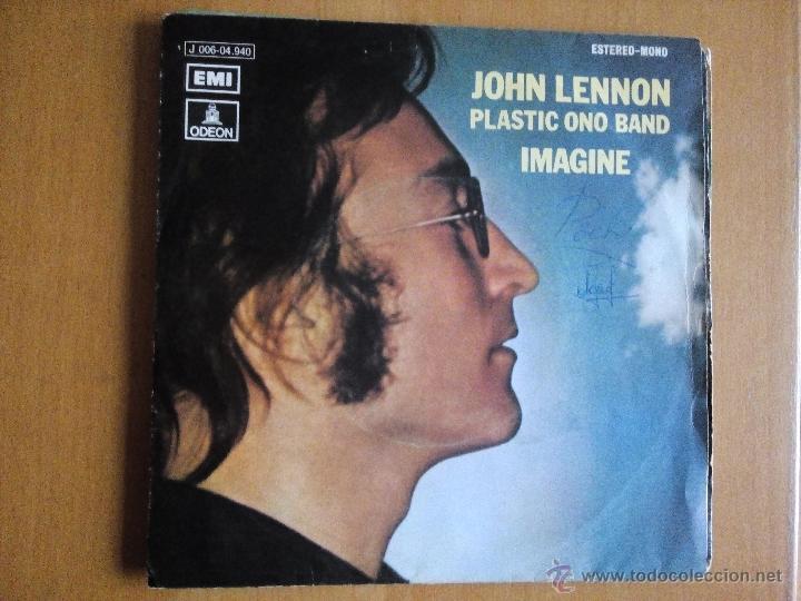 JOHN LENNON PLASTIC ONO BAND IMAGINE SINGLE SPAIN 1971 (Música - Discos - Singles Vinilo - Pop - Rock - Extranjero de los 70)
