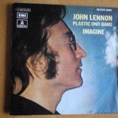 Discos de vinilo: JOHN LENNON PLASTIC ONO BAND IMAGINE SINGLE SPAIN 1971. Lote 49759523