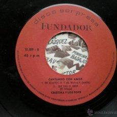 Discos de vinilo: EP FUNDADOR CHRISTINA Y LOS TOPS VER FOTOS TITULOS 1970. Lote 49760616