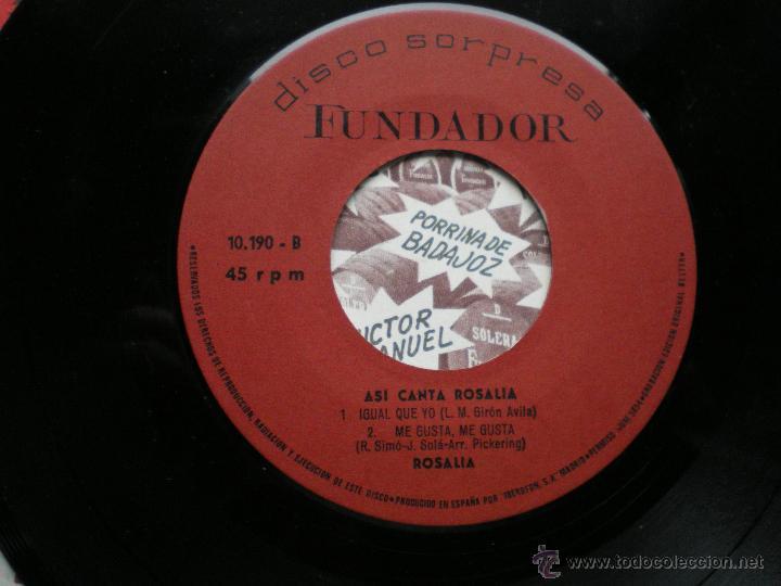 EP FUNDADOR ASI CANTA ROSALIA VER FOTOS TITULOS 1970 (Música - Discos de Vinilo - EPs - Solistas Españoles de los 70 a la actualidad)